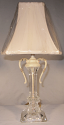 "Antique Crystal Lamp 20""H SOLD"