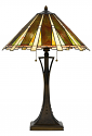 "Art Glass Mission Prairie Style Tiffany Table Lamp 28""H"