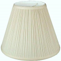"Mushroom Pleated Chandelier Lamp Shade Cream or White 5""W"