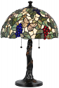 "Jeweled Grapes Vine and Butterflies Tiffany Table Lamp 23""H"