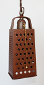 "Kitchen Grater Swag Lamp Pendant Light 3.5""Wx10""H"