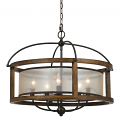 "Iron Wood Chandelier 5 Lights 26""Wx21""H"