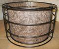 Custom Bronze Metal & Silver Mica Lamp Shade