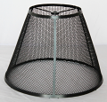 "Wire Mesh Screen Wire Metal Lamp Shade 6""x12""x9"" - Custom Sizes and Colors"