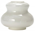 White Glass Hurricane Lamp Base