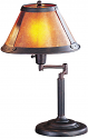 "Bronze Swing Arm Reading Lamp Mica Shade 22""H - Sale !"