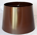 Espresso Brown Metal Lamp Shade Custom Sizes Available & Custom Colors - ask
