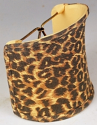 "Leopard Print Sconce Shade 4""W"