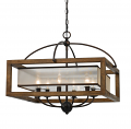 "Iron Wood Chandelier 6 Lights 24""Wx20""H"
