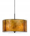 "Amber Mica Drum Pendant Light 18""W"