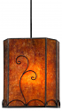 "Rectangle Mica Pendant Light Bronze 8""Wx10""H"