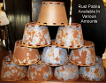 "Metal Chandelier Lamp Shade Rust Patina 4-6""W"