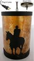 "Cowboy Southwestern Mica Pendant Light Swag Lamp 5""Wx9""H"