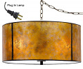 "Amber Mica Drum Swag Lamp 18""W"