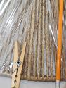 Coarse Beige Hemp Rope String Lamp Shade Close-Up