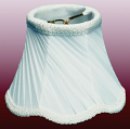"Scallop Twist Pleated Chandelier Shade Cream, White 5""W"