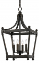 "Forged Iron Gothic Medieval Lantern Pendant Light 10""Wx22""H"