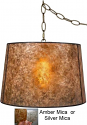 "Mica Drum Swag Pendant Light 16-19""W"