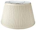 "Mushroom Pleated Hardback Floor Lamp Shade 17-19""W"