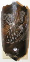 "Pine Cone Sconce Wall Night Light 6.5""Hx3""W Light On"
