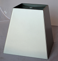 Square Metal Lamp Shade Stainless Steel Finish