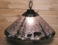 "Bears Mica Pendant Light Swag Lamp 14-18""W"