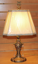 "Victorian Faces Art Deco Antique Lamp 17""H"