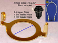 Slip UNO Adapter KIT: Harp, Saddle, Finial - Converts A Standard Lamp Shade To Fit Directly Onto The Electrical Socket