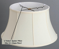 "Classic Bell Silk Floor Lamp Shade Cream, White, Beige, Black 17-19""W"
