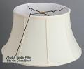 "Classic Bell Silk Floor Lamp Shade Cream, White, Beige, Black 17-19""W"