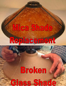 Custom Mica Shade Replaces Broken Glass Shade