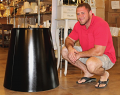 "Seth With Large Metal Lamp Shade Custom Sizes Up To 96"" Wide"