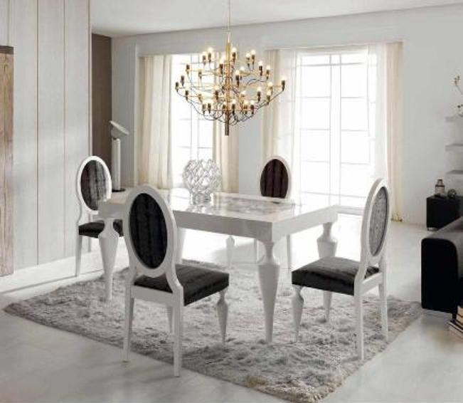 The above chandelier is slightly large for the table but wrong color